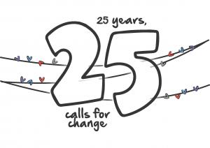 25 calls banner icon