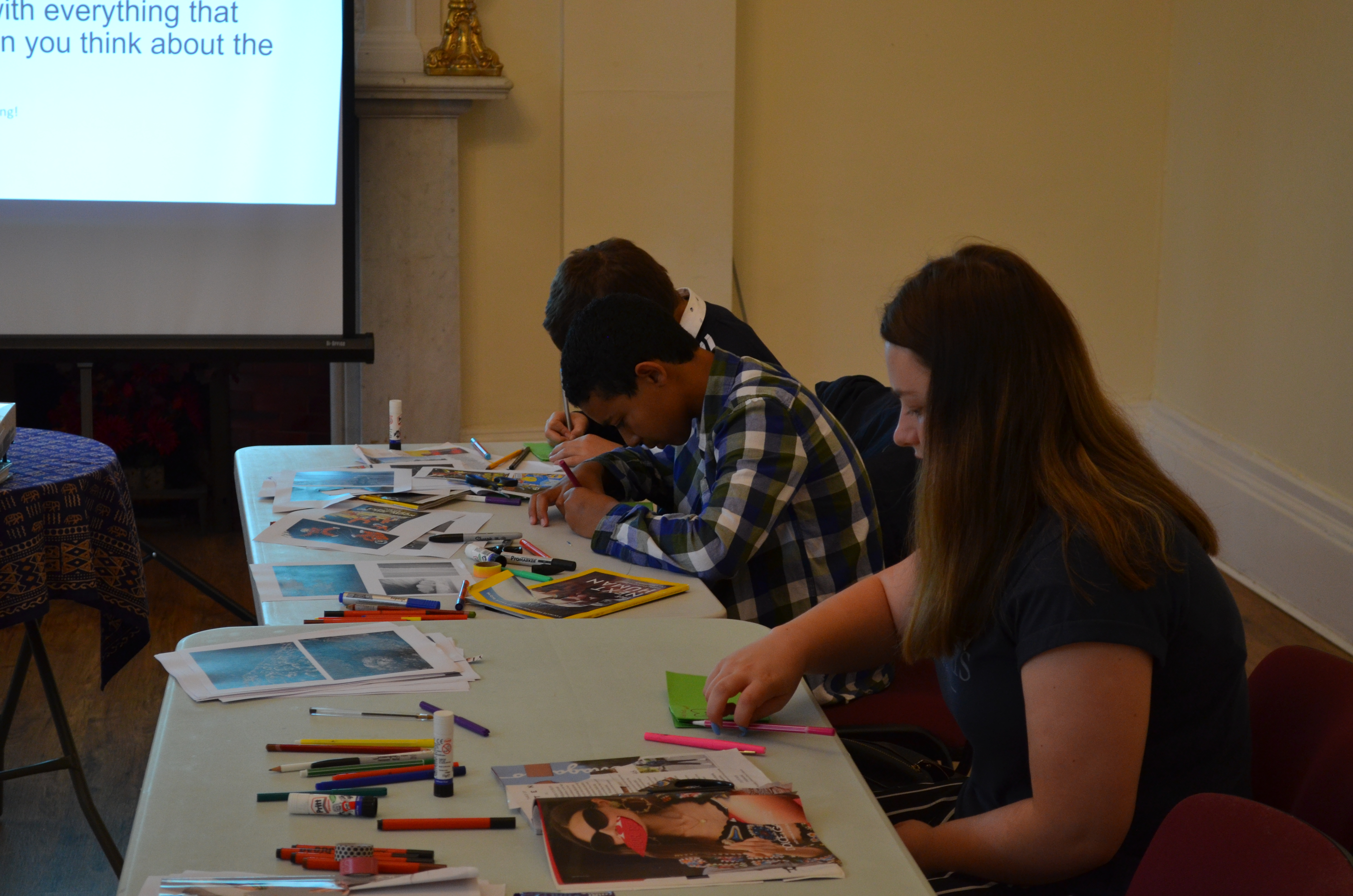 Creating zines as part of a Young Media Voices day