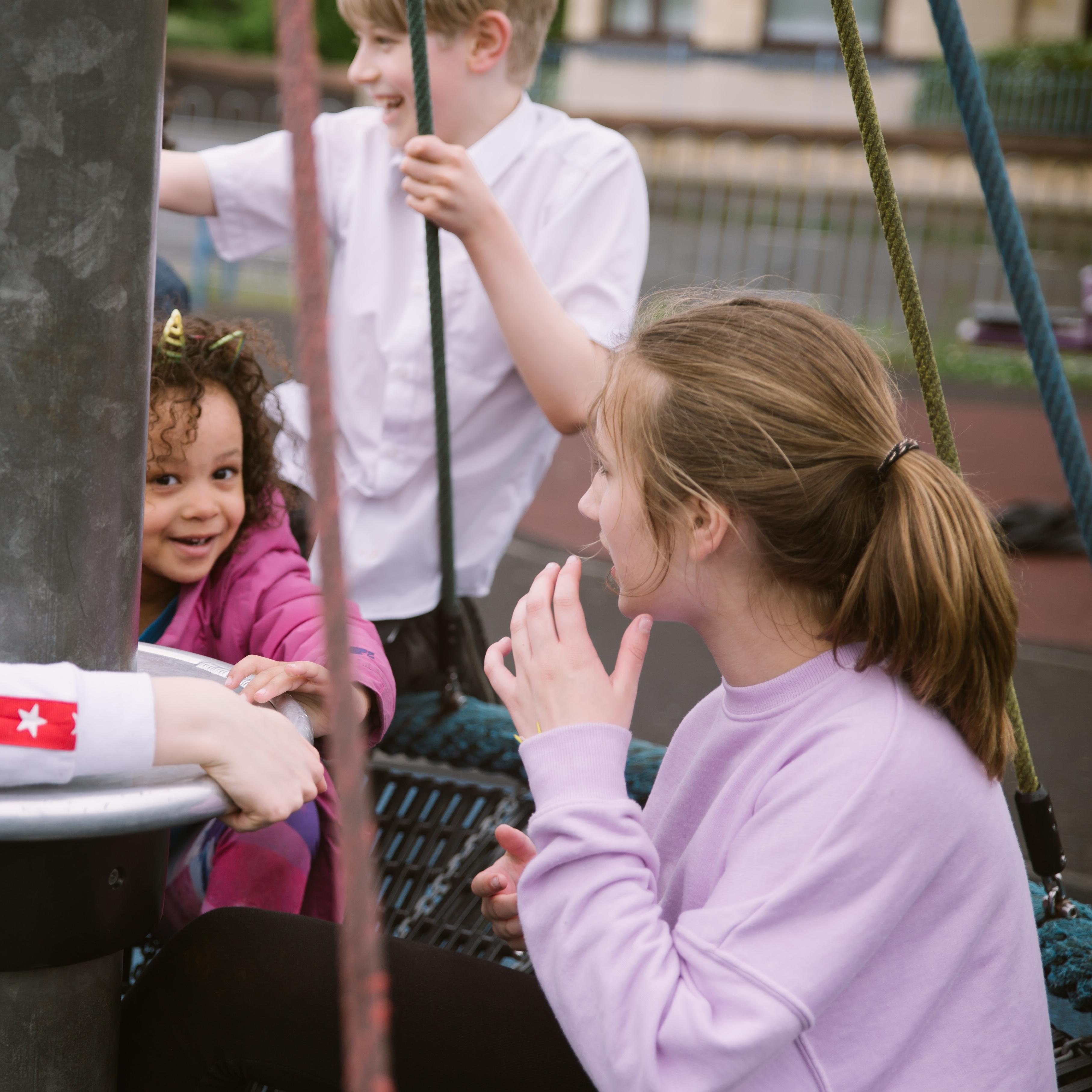 children-on-swing