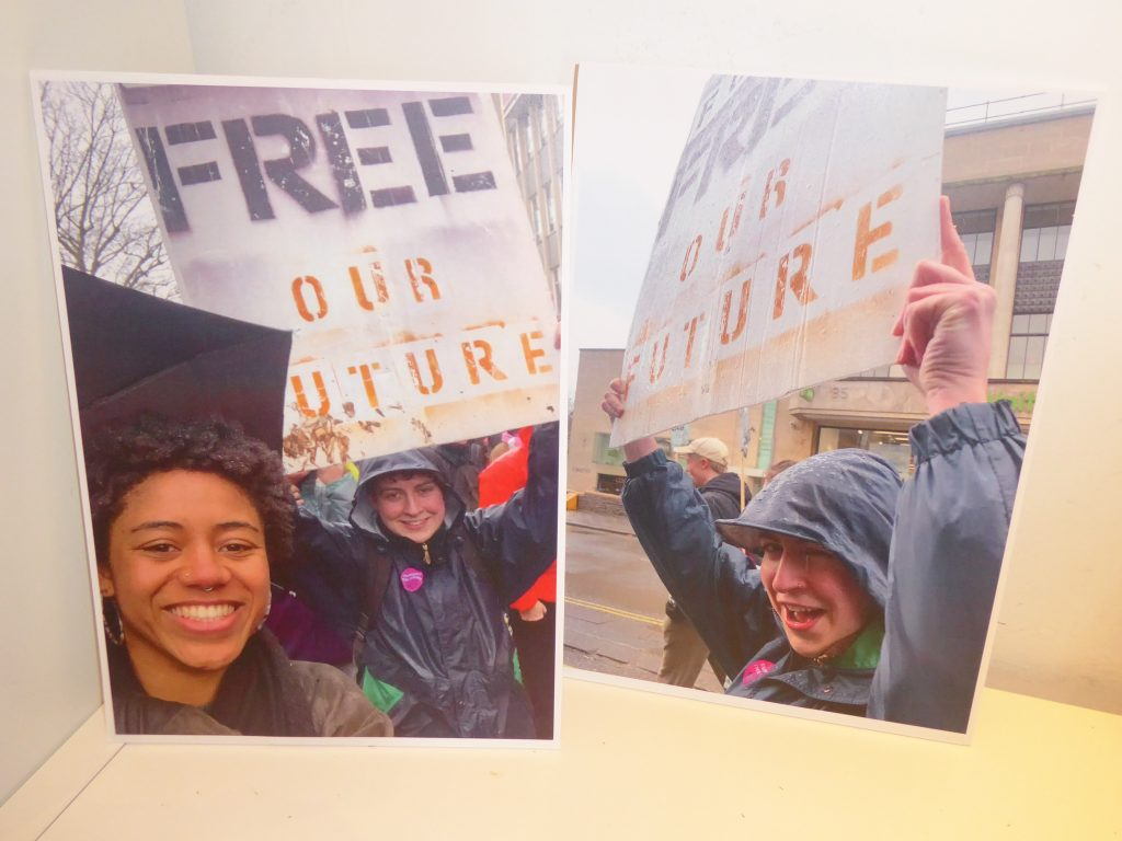 Protest art - Free our Future